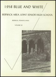 Page 5, 1958 Edition, Berwick High School - Blue and White Yearbook (Berwick, PA) online yearbook collection