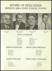 Page 9, 1958 Edition, Berwick High School - Blue and White Yearbook (Berwick, PA) online yearbook collection
