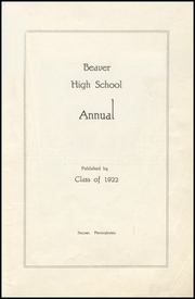 Page 3, 1922 Edition, Beaver High School - Shingas Yearbook (Beaver, PA) online yearbook collection