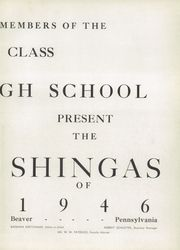 Page 7, 1946 Edition, Beaver High School - Shingas Yearbook (Beaver, PA) online yearbook collection