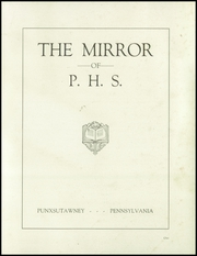 Page 3, 1933 Edition, Punxsutawney Area High School - Mirror Yearbook (Punxsutawney, PA) online yearbook collection