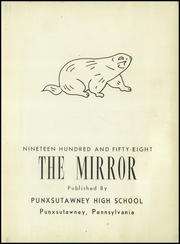 Page 7, 1958 Edition, Punxsutawney Area High School - Mirror Yearbook (Punxsutawney, PA) online yearbook collection