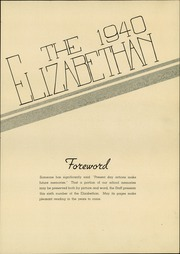 Page 5, 1940 Edition, Elizabethtown Area High School - Elizabethan Yearbook (Elizabethtown, PA) online yearbook collection