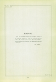 Page 5, 1924 Edition, Wilkinsburg High School - Annual Yearbook (Wilkinsburg, PA) online yearbook collection