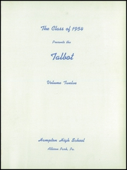 Page 5, 1954 Edition, Hampton High School - Talbot Yearbook (Allison Park, PA) online yearbook collection
