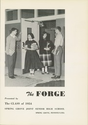 Page 5, 1954 Edition, Spring Grove High School - Forge Yearbook (Spring Grove, PA) online yearbook collection