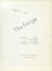 Page 5, 1960 Edition, Spring Grove High School - Forge Yearbook (Spring Grove, PA) online yearbook collection
