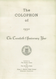 Page 5, 1950 Edition, Meyers High School - Colophon Yearbook (Wilkes Barre, PA) online yearbook collection