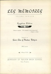 Page 9, 1936 Edition, Wilson Area High School - Les Memoires Yearbook (Easton, PA) online yearbook collection