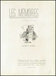 Page 7, 1939 Edition, Wilson Area High School - Les Memoires Yearbook (Easton, PA) online yearbook collection