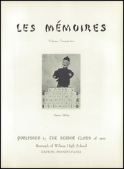 Page 9, 1945 Edition, Wilson Area High School - Les Memoires Yearbook (Easton, PA) online yearbook collection