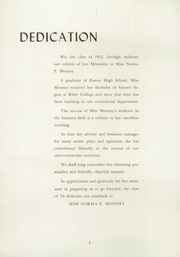 Page 8, 1954 Edition, Wilson Area High School - Les Memoires Yearbook (Easton, PA) online yearbook collection