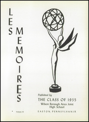 Page 5, 1955 Edition, Wilson Area High School - Les Memoires Yearbook (Easton, PA) online yearbook collection