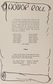 Page 12, 1944 Edition, Freedom Area High School - Shawnee Yearbook (Freedom, PA) online yearbook collection