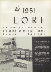 Page 5, 1951 Edition, Lewistown High School - Lore Yearbook (Lewistown, PA) online yearbook collection