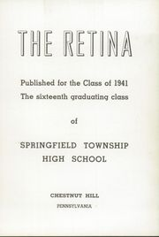 Page 7, 1941 Edition, Springfield Township High School - Retina Yearbook (Chestnut Hill, PA) online yearbook collection