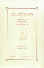 Page 7, 1929 Edition, Lehighton High School - Gachtin Bambil Yearbook (Lehighton, PA) online yearbook collection