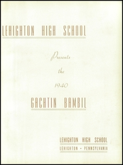 Page 7, 1940 Edition, Lehighton High School - Gachtin Bambil Yearbook (Lehighton, PA) online yearbook collection