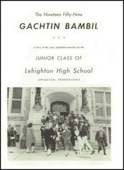 Page 5, 1959 Edition, Lehighton High School - Gachtin Bambil Yearbook (Lehighton, PA) online yearbook collection