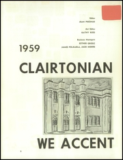 Page 6, 1959 Edition, Clairton High School - Clairtonian Yearbook (Clairton, PA) online yearbook collection
