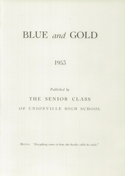 Page 5, 1953 Edition, Unionville High School - Blue and Gold Yearbook (Kennett Square, PA) online yearbook collection