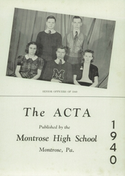 Page 5, 1940 Edition, Montrose High School - Acta Yearbook (Montrose, PA) online yearbook collection