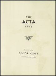 Page 5, 1946 Edition, Montrose High School - Acta Yearbook (Montrose, PA) online yearbook collection