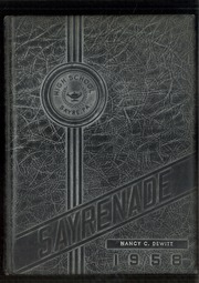 1958 Edition, Sayre High School - Sayrenade Yearbook (Sayre, PA)