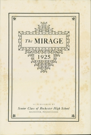 Page 5, 1925 Edition, Rochester High School - Mirage Yearbook (Rochester, PA) online yearbook collection