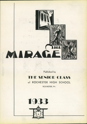 Page 7, 1933 Edition, Rochester High School - Mirage Yearbook (Rochester, PA) online yearbook collection