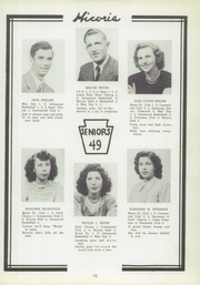 Page 15, 1949 Edition, Hickory High School - Hickory Nut Yearbook (Hermitage, PA) online yearbook collection