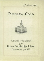 Page 5, 1924 Edition, Roman Catholic High School - Purple and Gold Yearbook (Philadelphia, PA) online yearbook collection