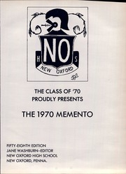 Page 5, 1970 Edition, New Oxford High School - Memento Yearbook (New Oxford, PA) online yearbook collection