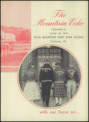 Page 7, 1957 Edition, Blue Mountain High School - Mountain Echo Yearbook (Schuylkill Haven, PA) online yearbook collection