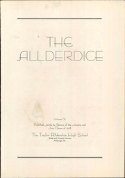 Page 7, 1938 Edition, Allderdice High School - Allderdice Yearbook (Pittsburgh, PA) online yearbook collection