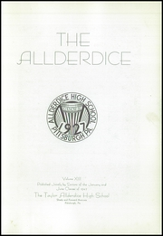 Page 7, 1942 Edition, Allderdice High School - Allderdice Yearbook (Pittsburgh, PA) online yearbook collection