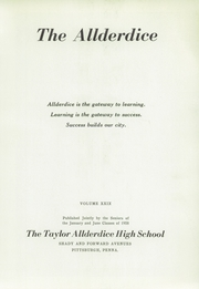 Page 5, 1958 Edition, Allderdice High School - Allderdice Yearbook (Pittsburgh, PA) online yearbook collection