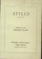 Page 5, 1927 Edition, Windber High School - Stylus Yearbook (Windber, PA) online yearbook collection
