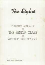 Page 7, 1943 Edition, Windber High School - Stylus Yearbook (Windber, PA) online yearbook collection