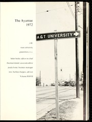 Page 5, 1972 Edition, Agricultural and Technical State University - Ayantee Yearbook (Greensboro, NC) online yearbook collection
