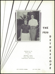Page 5, 1959 Edition, Bethlehem Center High School - Bethescope Yearbook (Fredericktown, PA) online yearbook collection