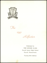 Page 7, 1941 Edition, Farrell High School - Reflector Yearbook (Farrell, PA) online yearbook collection