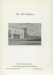 Page 5, 1953 Edition, Farrell High School - Reflector Yearbook (Farrell, PA) online yearbook collection