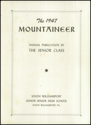 Page 7, 1947 Edition, South Williamsport High School - Mountaineer Yearbook (South Williamsport, PA) online yearbook collection