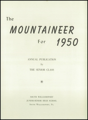 Page 7, 1950 Edition, South Williamsport High School - Mountaineer Yearbook (South Williamsport, PA) online yearbook collection