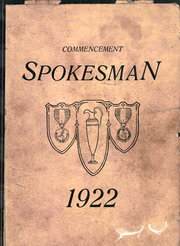 1922 Edition, Central High School - Spokesman Yearbook (Erie, PA)