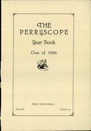 Page 5, 1930 Edition, Perry High School - Perryscope Yearbook (Pittsburgh, PA) online yearbook collection
