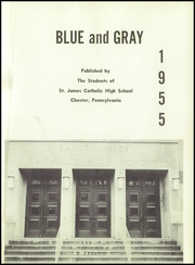 Page 5, 1955 Edition, St James Catholic High School - Blue and Gray Yearbook (Chester, PA) online yearbook collection