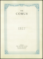 Page 9, 1927 Edition, William Allen High School - Comus Yearbook (Allentown, PA) online yearbook collection