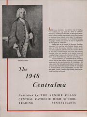 Page 5, 1948 Edition, Central Catholic High School - Centralma Yearbook (Reading, PA) online yearbook collection